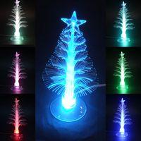 Cheap Mini USB Mutil Color Changing Christmas Tree LED Light X'mas Tree Lamp Decoration Christmas Gift
