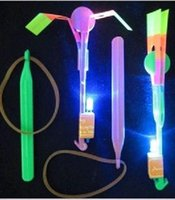 Wholesale LED Amazing flying arrows helicopter fly arrow umbrella kids toys DHL