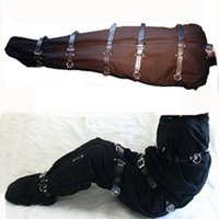 adult sleep sack - Quality Gimp Strict Sex Bondage Straight Jacket Sleep Sack Straitjacket Adult Body Restraint Set