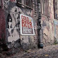 beer plants - New Tin Sheet Cold Beer Metal Sign Vintage Bar Tavern Club Decor Pub Plaque Wall Decor Retro Metal Art Poster X cm order lt no track