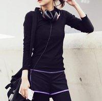 Wholesale NEW fashion yoga shirts women fitness clothing clothes Dance tops Team T shirt S M L