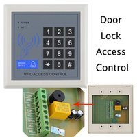 electronic key door lock - RFID Access Contol Electronic Proximity Entry Door Lock Access Control System with Key Fobs Home Offices Security System