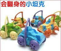 Wholesale ZA2615 chain sideways on dump tank camouflage child stand up stall on the chain toy tank car