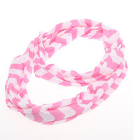 Wholesale Hot SALE New Spring Chevron Infinity Scarf Girls Cotton Infinity women Adult Zig Zag chevron Scarf