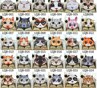 angry cats - Angry Cat head coin purse D Character animal Meow star people zipper card key purses wallet cosmetic bag cartoon handbag case