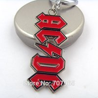 ac logo design - Design AC DC Band Letter Logo Keychain Accessory High Quality Alloy Key Chain