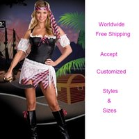 Cheap Free Ship!Adult Hot Sale Sexy Pirate Halloween Costumes Fashion Cosplay Party Costume Dress For Women