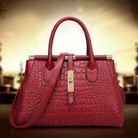 brand bags handbags - Women Handbag Genuine Leather shoulder Bags alligator famous brand Messenger bag tote colors bolsas