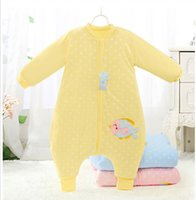 apart clothing - Legs Apart Baby Sleeping Bags Sleep Suits Autumn Winter Newborn Sleeping Bags Removable Sleeve Cartoon Infant Sleepsacks Anti Kicking m00764