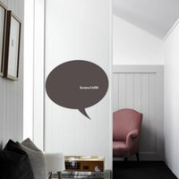 live chat - Talk Chat Bubble Oval Office Chalkboard Wall Stickers Decor Removable Waterproof