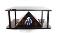Wholesale 3D Holographic Projection Pyramid for inch Tablet PC and smartphone Hatsune D MV Projector