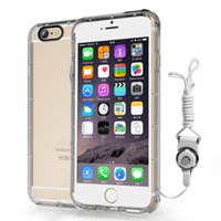 apple iphone lanyards - Anti Shock Dirt Waterproof Transparent Soft Case Cover For iPhone S Plus S S Plus With Multifunctional Lanyard
