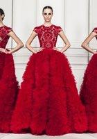 Cheap Zuhair Murad Evening Gown Best Cap Sleeve Evening Gown