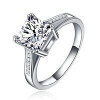 big gemstone jewelry - Big Heart womens Ringswhite gold filled Jewelry Engagement with gemstone rings with Cubic Zircon Engagement Ring MSR079