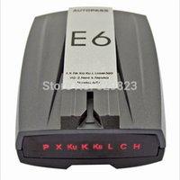 Wholesale retail New Arrival sale orginal E6 Car radar detector Russian English with LED display