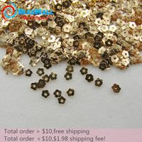 Wholesale Min order is Rushed Limited Beauty Nail Art Flower mm Hole mm Gold Metal Decoration d Rose Studs Tips Diy