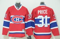 Wholesale 2015 Newest Youth Montreal Canadiens Carey Price Red Ice Hockey Jersey Kid Jerseys Good Quality