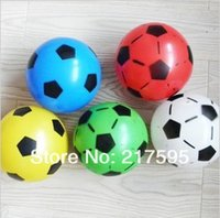 balloons free delivery - hot selling popular summer toy diameter cm multicolor inflatable football rubber balloon different colors random delivery