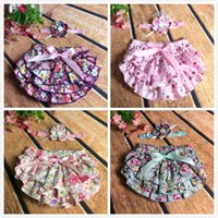 ruffle diaper cover - Floral Baby Bloomer Set Baby Ruffle Bloomer Headband Set Newborn ruffle diaper cover baby photo outfit with baby headband