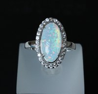 Cheap With Side Stones fire opal ring Best Fashion Women's opal ring