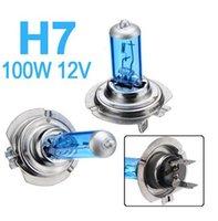 Livraison gratuite H7 12V 100W 6000K H7 Super White Halogen Light Car Source Ampoules Phares Auto Lamp Voitures de stationnement