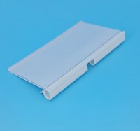 Wholesale 80mm x mm PVC Plastic Price Tag Sign Label Display Holder In White For Supermarket Shelf Stand Hook Rack