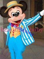 Alta calidad azul Mickey mouse traje de la mascota de Mickey traje de la mascota