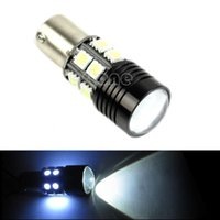 Wholesale Cree R5 SMD BA15S W Bright White Car Tail Backup Reverse LED Light free shippping