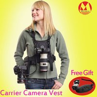 Wholesale MICNOVA Carrier II Multi Camera Carrier Photographer Vest with Dual Side Holster Strap for Canon Nikon Sony DSLR Camera