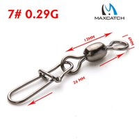 Wholesale Maxcatch Crane Fishing Swivel With Nice Safe Snap Size and Size Fishing Tackle Box A5