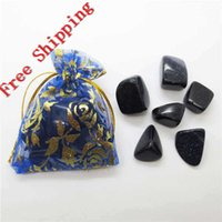 Wholesale Tumbled Blue Goldstone in pouch for healing reiki lucky mm Tumbled semi preicous stone beads