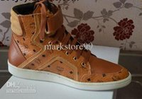 Wholesale new fashion MCM Visetos Urban Nomad Brown Shoe sneakers high fashion