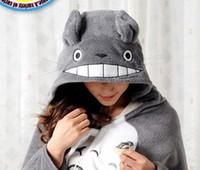 Wholesale Cute My Neighbor Totoro Lovely Plush Soft Cloak Anime Totoro air condition Shawls cosplay totoro cloak coral fleece cm