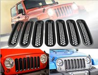 Wholesale For Jeep JK Wrangler Black Trim Front Grille Cover Insert Mesh Grill