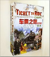 Wholesale Ticket To Ride Europe english and chinese version Board Game the classic Popular desktop Table Games