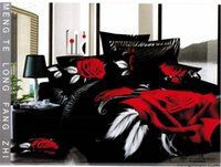 Wholesale 2013 new design discount black red comforters sets duvet covers black and red popular design bedding EMS