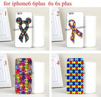 autism awareness ribbon - 4pcs hot Autism Awareness Ribbon Hard Skin Transparent stealth Case Cover for iPhone s iphone s plus