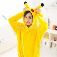 fashion pajamas - 2014 Hot Selling Unisex Flannel Fashion Pajamas Pyjama Adult Cute Anime Cosplay Costume Onesie Sleepwear Stitch Pikachu S M L Xl