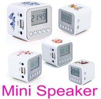 Wholesale Nizhi TT Mini Portable LED Crystal Loundspeaker Subwoofers Speaker Micro SD TF Card FM Radio MP3 Player Music Speakers