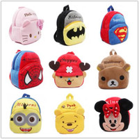 Wholesale 2015 Retail children s plush backpacks Hello Kitty bag Minnie Backpack Spider baby toy Backpack children cartoon bag kid toy bag