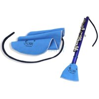 Wholesale Deerskin Flocking Cleaning Wiping Cloth for Music Wind Instruments Blue