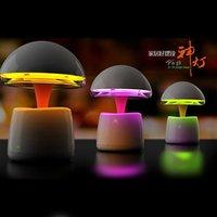 Wholesale Mini Wireless Bluetooth Speakers RGB LED Night Light Lamp TF Card FM Line Input Mode Charger Multifunction iLight Remote Control
