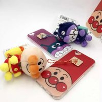 backpack iphone case - Lovely Cartoon backpack toy Bread Red Beans Superman TPU case Newest Bread Anpanman for iphone s plus Case