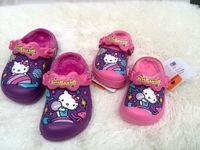 Pantoufles chaussures mignonnes France-Nouvelle arrivée parentales mignons kT chaussures de jardin enfants Brand princesse chaudes pantoufles molletonnées chaussures de jardin 'sandales d'hiver de la mode des filles, la livraison gratuite