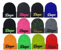 beanie cap pattern - 3D Pattern Hiphop Beanies For Women Girl Unisex Dance Street Hats Wool Knitting Skull Caps Hat