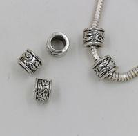 Wholesale Hot Tibetan Silver mm Hole Tube Bead Spacers Charm Fit Bracelet Tibetan Silver x8 mm