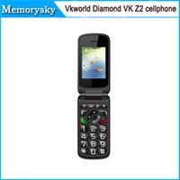 flip camera - Elder Flip Mobile Phones inch Vkworld Diamond VK Z2 Senior with Qwerty Keyboard g GSM MP mAh FM cellphone SC6531 by DHL