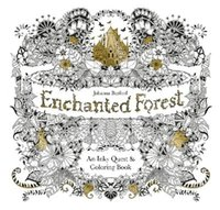 Wholesale Enchanted Forest An Inky Quest Coloring Book For Children Adult Relieve Stress Kill Time Graffiti Painting Drawing Book