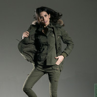 Wholesale Free Army Brand Womens Jackets Slim Fit Fur Collar Accept Waist Long Section Of Winter Jackets And Coats Outdoor GS A