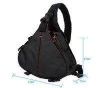 Wholesale New Black Fashion Casual diagonal DSLR Camera Bag Carry Case Shoulder Messenger K1 For Nikon Sony Canon Olympus